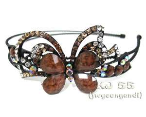 Rhinestone Headbands Flower Butterfly Hair Bands Crystal Head Beads