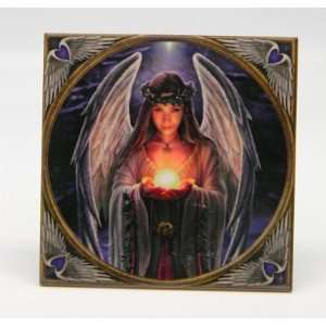 Anne Stokes Mystic Angel Tile:  Home & Kitchen