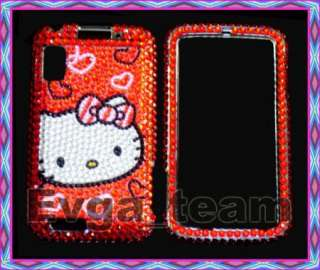 Hello kitty Bling Case Cover Motorola Atrix 4G MB860 RD