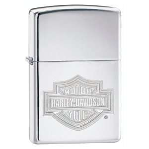 New Zippo Harley Davidson Bar&Shield High Polish Superior