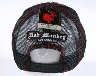 Red Monkey BRITISH KNIGHTS Trucker Cap Hat Black embroidered RMDH305