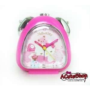 Sanrio Hello Kitty Teddy Bear Snooze Alarm Clock Pink
