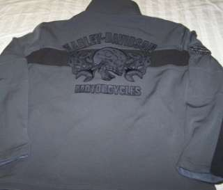 NWOT Harley Davidson Jacket Large Gray Motorcycle Coat Skull