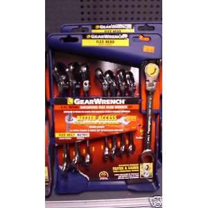 Piece Metric Ratcheting Flex Head Wrench Set 81108
