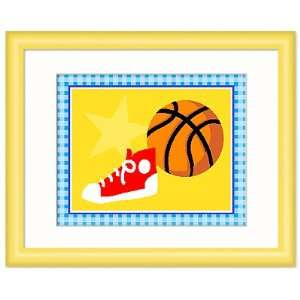 Olive Kids FY TEAM 302 Go Team Basketball Framed Print