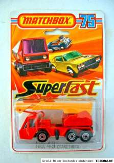 Superfast No. 49C Crane Truck red body 1000 PS Set
