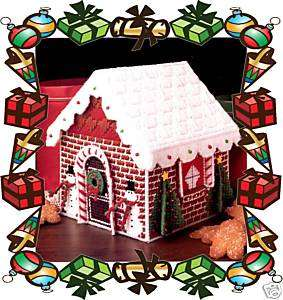 GINGERBREAD HOUSE plastic canvas pattern