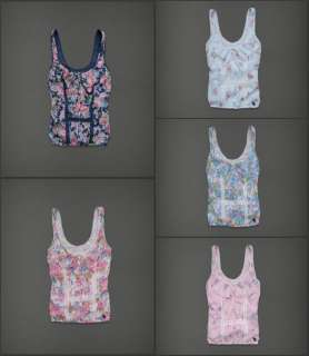 NWT Abercrombie & FItch Women Micah Tank Cami Top Tee T Shirt