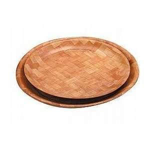 Zodiac 35Cm/14 Round Woven Wood Tray