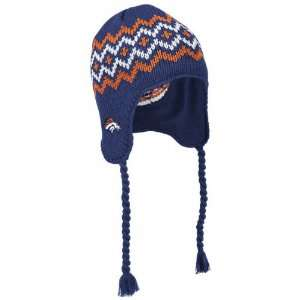 Denver Broncos Reebok Yarn Tie Fashion Knit Hat: Sports