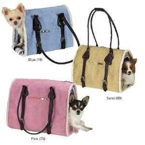 Zack & Zoey Suede Pink Sherpa Pet Dog Carrier Tote