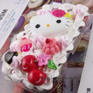 Hello Kitty Cake ice Cream Case cover for blackberry Torch 9800