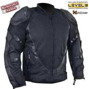 Xelement Mens Black Motorcycle Jacket with Breathable 3