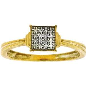 Polished Sterling Silver .05CT Diamond Micro Pave Diamond Setting