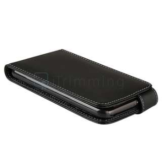 Leather Flip Case+Privacy LCD Guard For HTC Inspire 4G