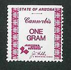Arizona (version #1) Marijuana Drug Tax Stamp Marihuana Stamps