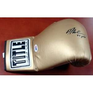 Meldrick Taylor Autographed/Hand Signed Title Gold Boxing