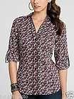 NWT $118 MARCIANO GUESS Shirt Dress Puff Sleeve Top Sz XS *CHEAP