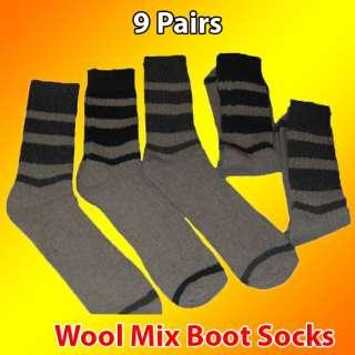 10 Pairs Mens Bigfoot Wool Mixed Boot Socks Bargain