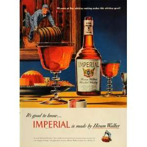 1948 Ad Hiram Walker Imperial Blended Whiskey Barrel