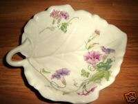TOYO LEAF SHAPED JAPANESE BOWL , MORNING GLORY BY MAGIE