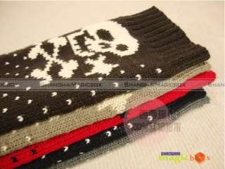 Knitting Wool Loose Boot Long Socks Covers 4 Colors New #013