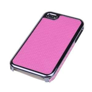 Durable Pink Mat Lines Hard Back Protection Cover Case For iPhone 4