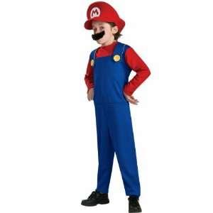 Super Mario Costume Child Medium 8 10 Mario Brothers Toys & Games