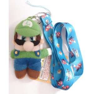 Super Mario Bros Luigi Lanyard Phone Strap and Plush Charm Backpack