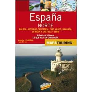 Espana Norte/ Northern Spain Mapa de carreteras 1340.000/ Road Map 1