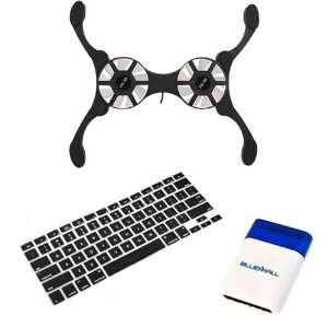 Fan + Silicone Keyboard Cover Case Skin + Mini Brush for Apple MacBook