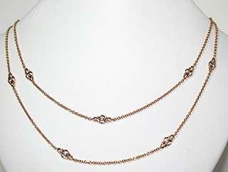 Leslie Greene 18K Gold &Diamond Necklace  Retail