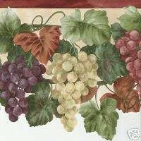 LASER CUT Hanging GRAPES Wallpaper Botanical BORDER