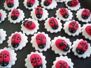 20 Lady Bugs / Lady Birds Cup cake Toppers, Decorations