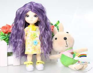 Lati Yellow/Tyler Long Wavy 5 6 Wig Purple/White #8033