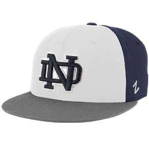 Zephyr Notre Dame Fighting Irish Navy Blue White Gray
