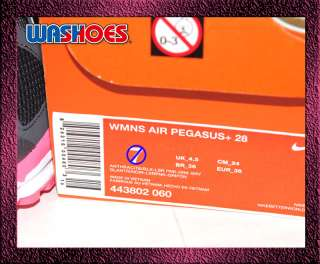 2011 Nike Wmns Air Pegasus+ 28 Anthracite Black Pink Dark Grey US 6~8