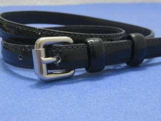 Black Patent Leather Moschino Ladies Skinny Belt (26 30