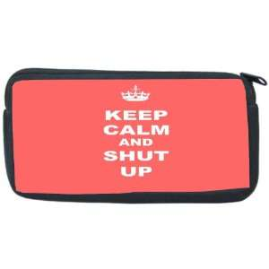 Keep Calm and Shut Up   Tropical Pink Color Neoprene Pencil Case