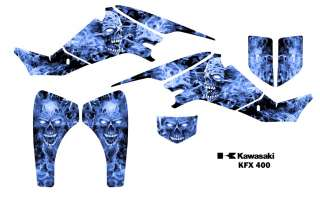 Kawasaki KFX 400 Atv Graphics Decal Sticker Kit #9500B