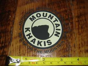 MOUNTAIN KHAKIS Pants STICKER Decal NEW