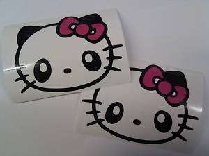 HELLO KITTY Cute SANRIO Panda Vinyl Decal Sticker x 2