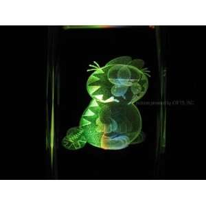 Garfield The Cat 3D Laser Etched Crystal V Everything