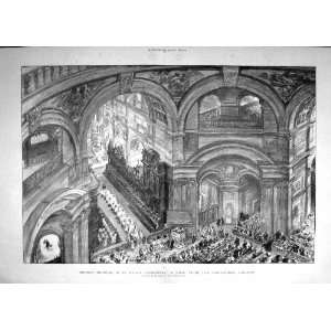1895 St. PaulS Cathedral Whispering Gallery London