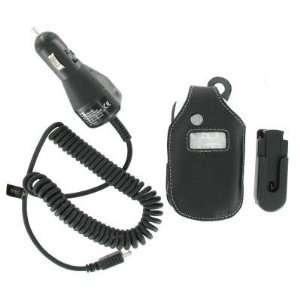 Leather Case & Car Charger for Motorola V323i V325 V326