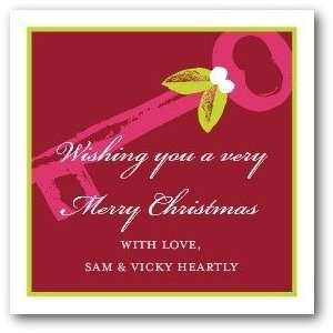 Personalized Holiday Gift Tag Stickers   Christmas Key By Hello Little