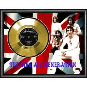 The Who My Generation Framed Gold Record A3 Musical