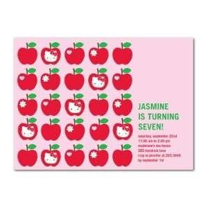 Birthday Party Invitations   Hello Kitty Apple Match By