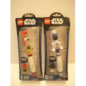 of Two Items   Star Wars Lego Pens   C 3PO & R2 D2 Toys & Games