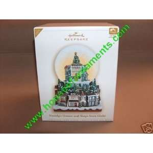 HOUSES & SHOPS SNOW GLOBE   VSDB   HALLMARK ORNAMENT